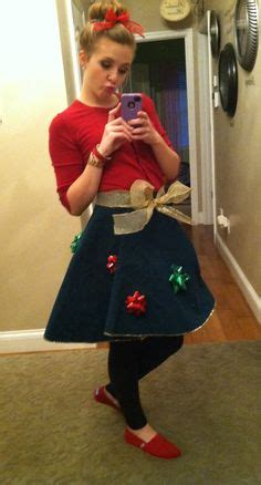 ecu christmas skirt literally wearing the skirt around my tree as my sweater skirt top it with