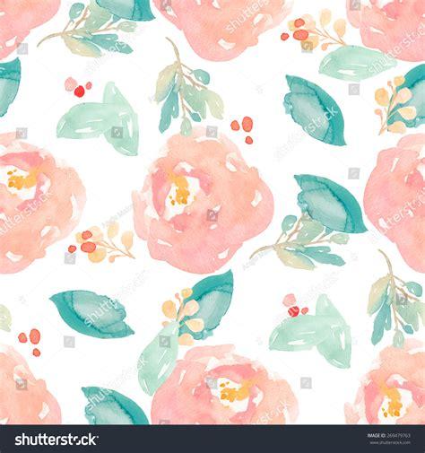 cute handpainted pattern cute watercolor floral pattern painted peony stock