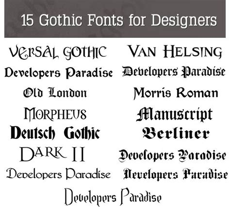 tattoo fonts gothic 25 best ideas about fonts on black