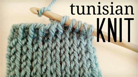 crochet knit stitch how to crochet tunisian knit stitch tks tunisian