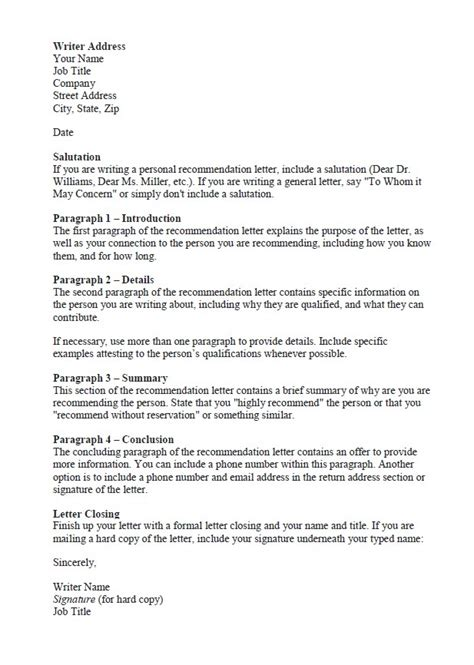 Reference Letter Tips Tips For Writing A Letter Of Recommendation