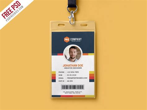 Id Card Template Photoshop by Cool Creative Office Identity Card Template Psd