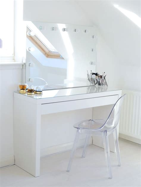 Glass Top Vanity Table White Dressing Table With Glass Top