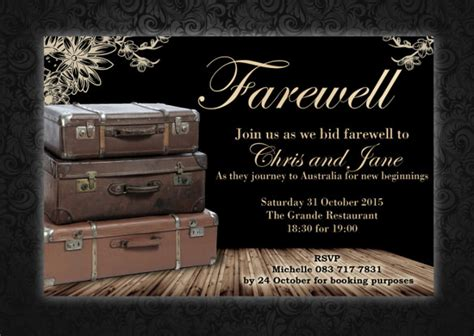 9 Amazing Farewell Invitation Templates To Download Sle Templates Free Farewell Invitation Templates