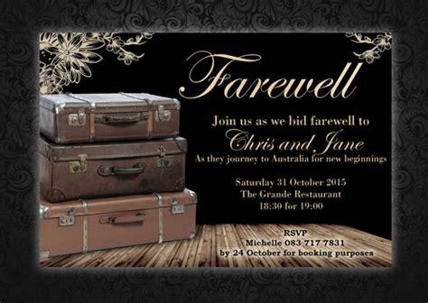 sample farewell invitation templates   psd