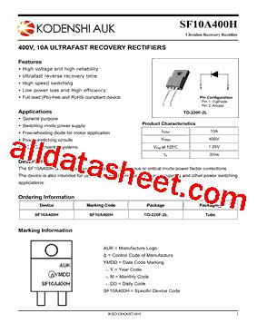 Sf10a400h sf10a400h datasheet pdf kodenshi korea corp