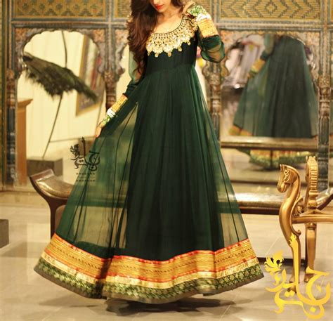 latest party wear frocks dresses 2014 for girls fancy dresses by jannat nazir party wear collection 2014