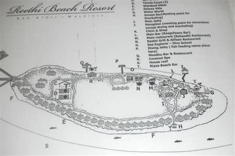 reethi island resort map plan de l 238 le picture of reethi resort baa atoll