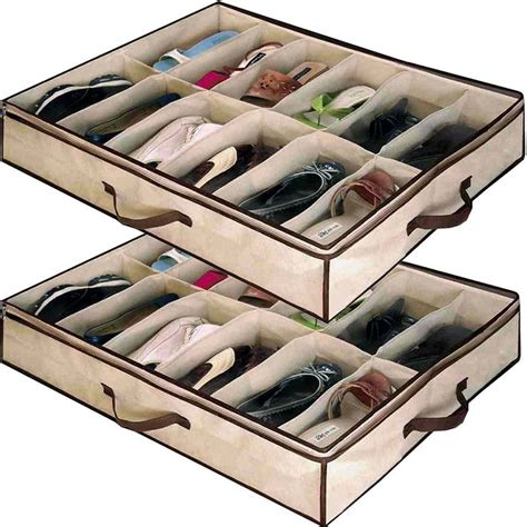 bed storage shoes 25 best ideas about bed shoe storage on