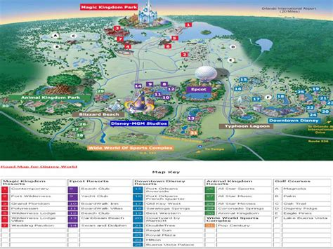 map world golf a come true tourist map of the routes in orlando