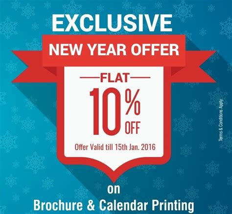 new year special offer save 10 on brochure calendar