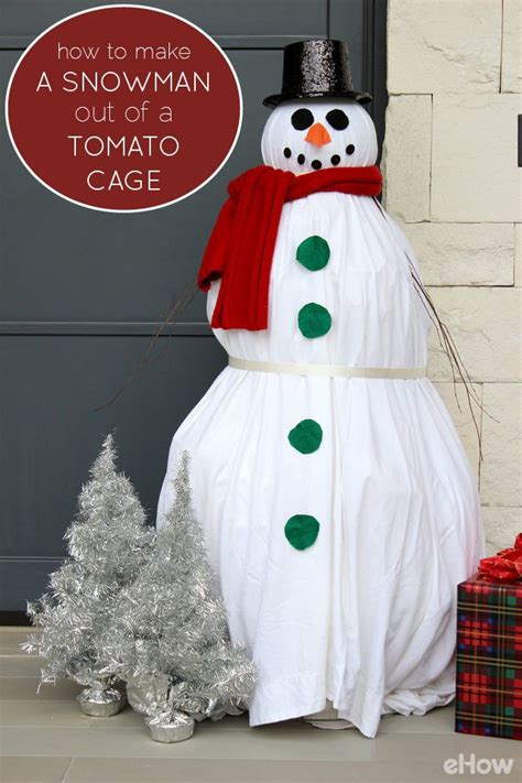 snowman    tomato cage front yards tomato cages  paper