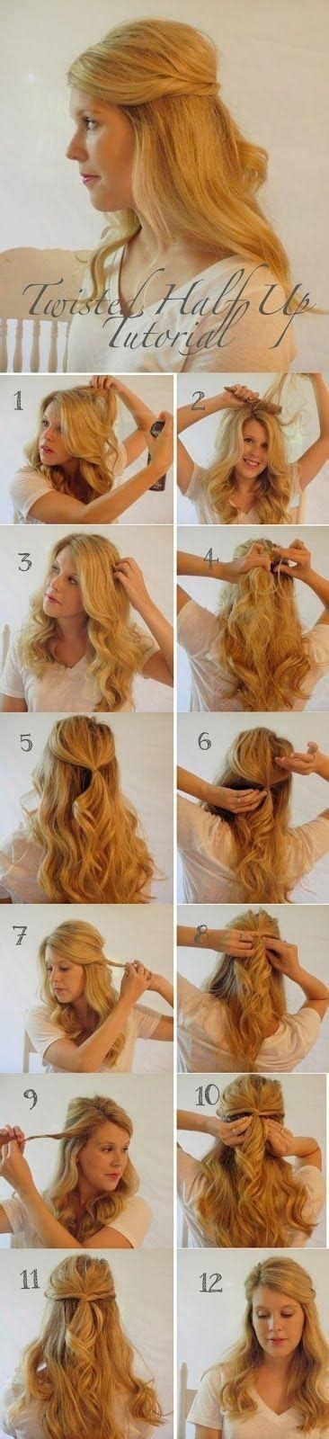hairstyles ideas step by step twisted half up half down hairstyle ideas step by step