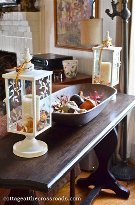 sofa table decorating ideas pictures decorating the cottage for fall cottage at the crossroads