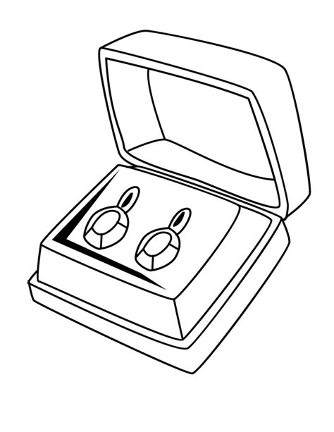 jewelry coloring pages coloring home