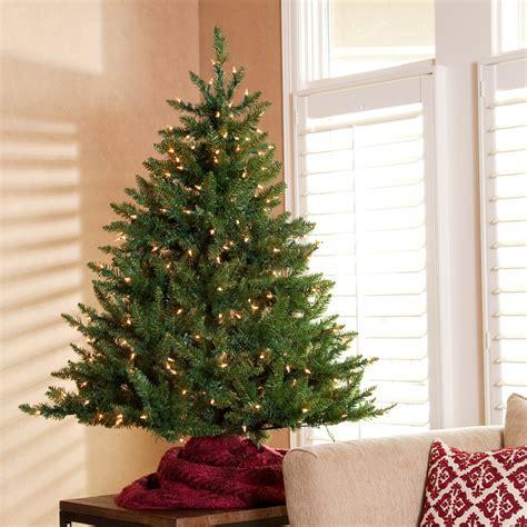 tisch weihnachtsbaum classic tabletop pre lit christmas tree 4 5 ft