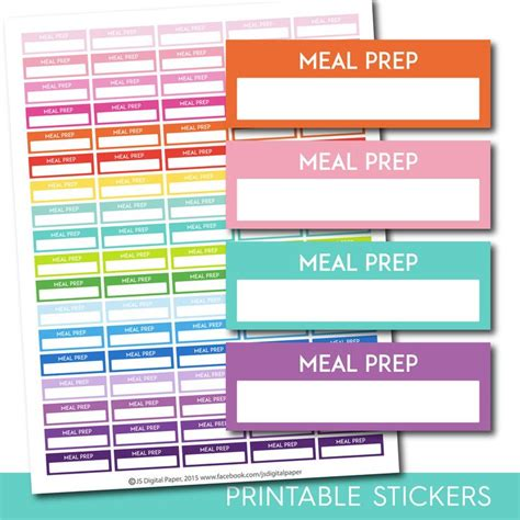 printable meal prep planner 1000 images about ec planner stickers on pinterest