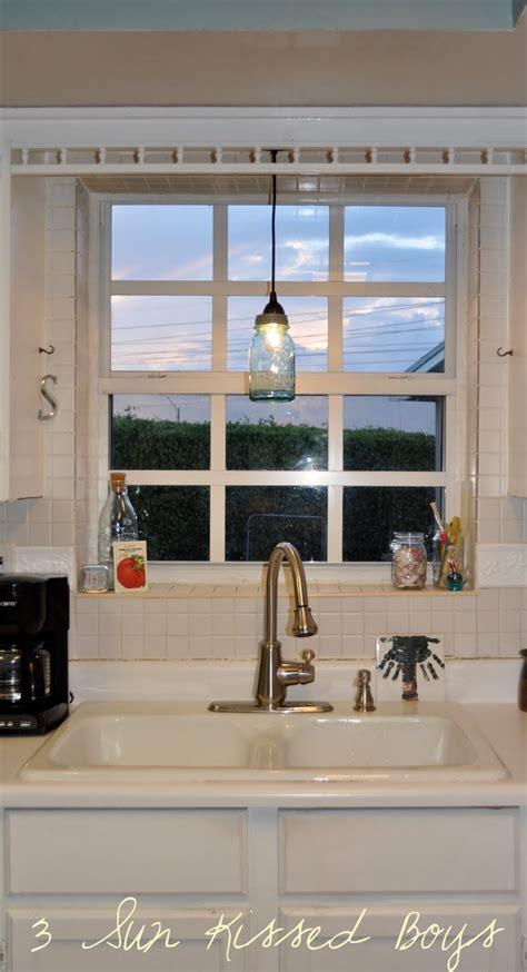 pendant light above kitchen sink remodelaholic mason jar pendant light tutorial