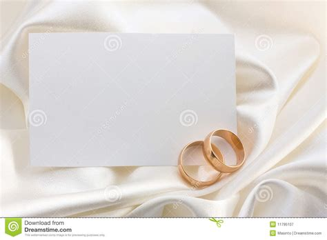 wedding sts for card two wedding rings and card royalty free stock photography