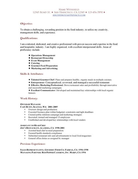 Entrepreneur Cover Letter by Entrepreneur Resume Objective Resume Ideas