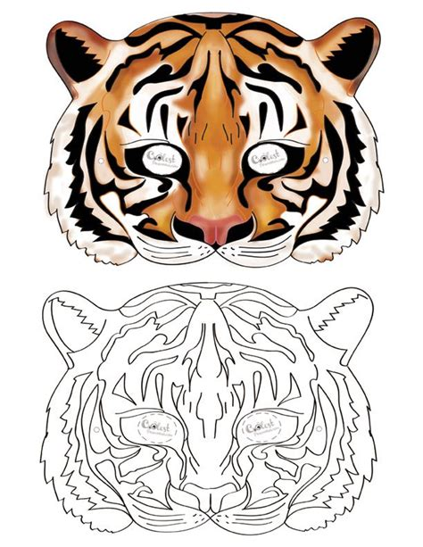 How To Make A Tiger Mask Out Of Paper - printable tiger mask coolest free printables kid s