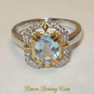 Silver Ring Sv18 Blue Topaz Batu Permata Cincin Perak cincin wanita silver 925 sky blue topaz 1 5 carat ukuran ring 6 5us