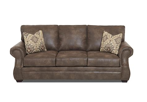 traditional air coil mattress sleeper sofa with nailhead trim by klaussner wolf and gardiner