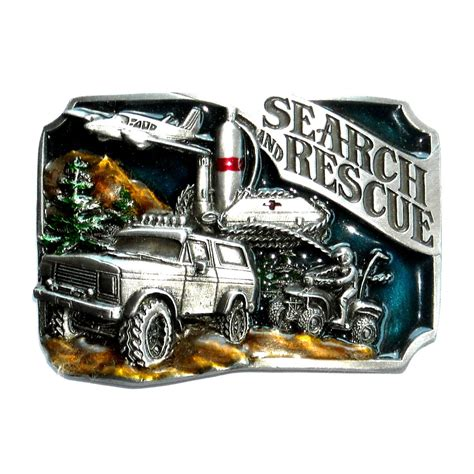 Siskiyou Search Search Rescue Color 1988 Siskiyou Pewter Belt Buckle