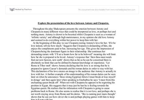 Antony And Cleopatra Essay by Anthony And Cleopatra Essay