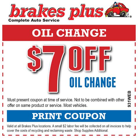 nissan brake coupons change brakes plus