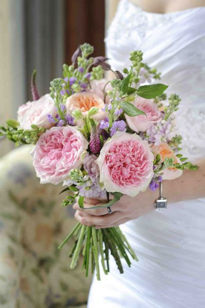 david austin mixed pink bridal bouquet romancing the rose top floral trends bridalguide