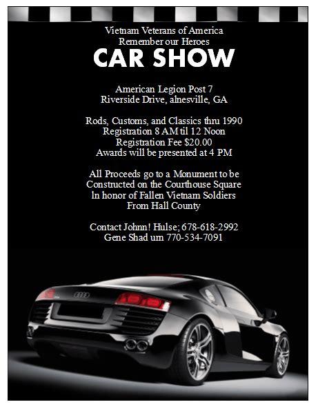 5 Free Car Show Flyer Templates Excel Pdf Formats Free Car Show Flyer Template