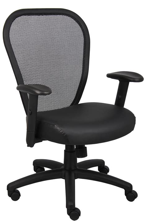 b6808 managers mesh high back office chair with