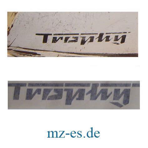 Mz Tank Aufkleber by Aufkleber Quot Trophy Quot Tank Mz Es 125 1 150 1 Mz Es