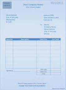 blank invoice template for microsoft word blank invoice template word excel formats
