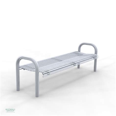 stainless steel park benches park bench slc48 backless steel or stainless steel