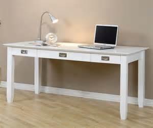 White Home Desk by Light Bamboo Floor With Long White Writing Desk Design For