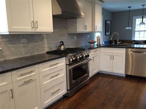 kitchenaid backsplash counters are polished quot steel gray quot granite backsplash is