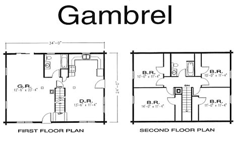 Gambrel Cabin Plans | gambrel log home log home kits plans