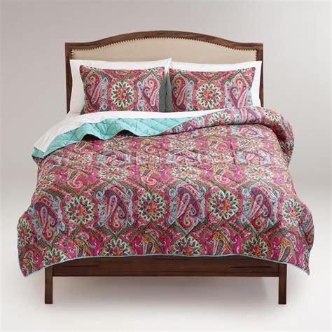 world market bedding paisley rialto bedding collection world market