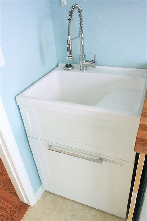 laundry room utility sink with cabinet projects laundry room reveal finally