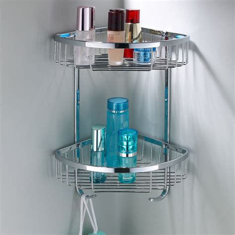 Metal Corner Shelf Bathroom by Beautiful And Functional Bathroom Corner Shelf Home