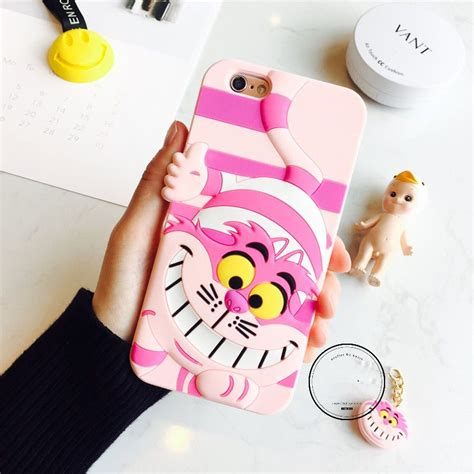 Casing Iphone 6 Chesire Cat details about 3d disney cheshire cat rubber soft cover for iphone 6 6s plus