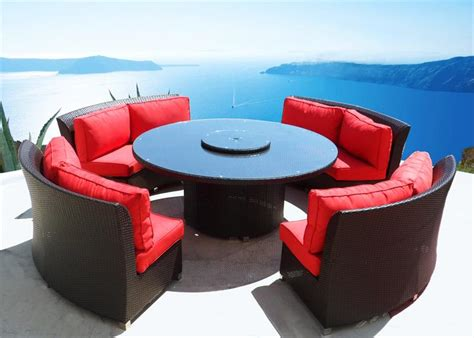 Circular Patio Furniture outdoor wicker dining sofa