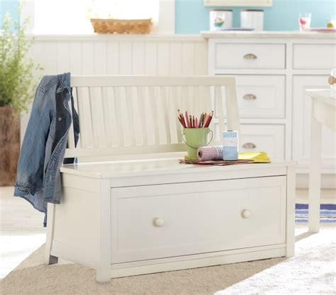 pottery barn kids storage bench carolina storage bench with drawer pottery barn kids