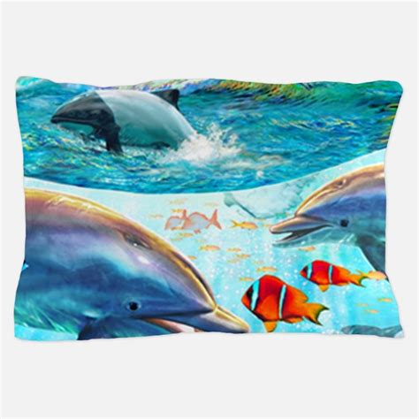 Dolphin Pillows by Dolphin Bedding Dolphin Duvet Covers Pillow Cases More