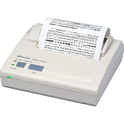 thermal printer receipt template seiko dpu414 direct thermal printer monochrome portable