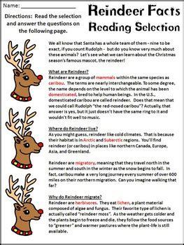 printable reindeer trivia christmas activities reindeer facts christmas reading