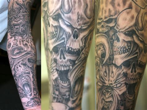 grey evil sleeve tattoo www facebook com
