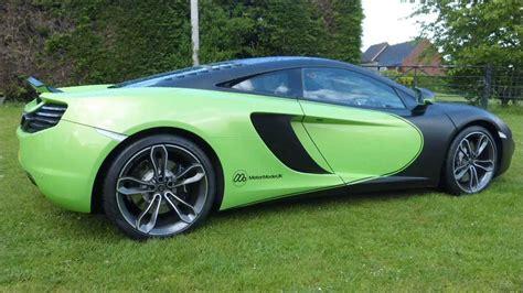 mclaren mp4 12c green mclaren mp4 12c in lime green with matte black vehicle